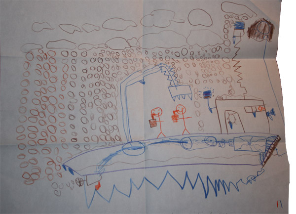 Drawn by Benjamin Mills - Age 6