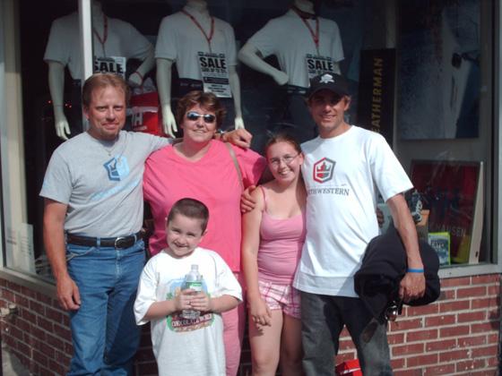 Jake, Norman, Mom, Chris & Me