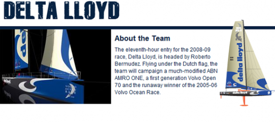 On the way to boston for the volvo ocean race be on the team delta Lloyd boat. Gonna have some fun